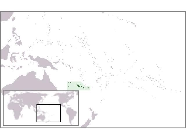 New Caledonia locator map