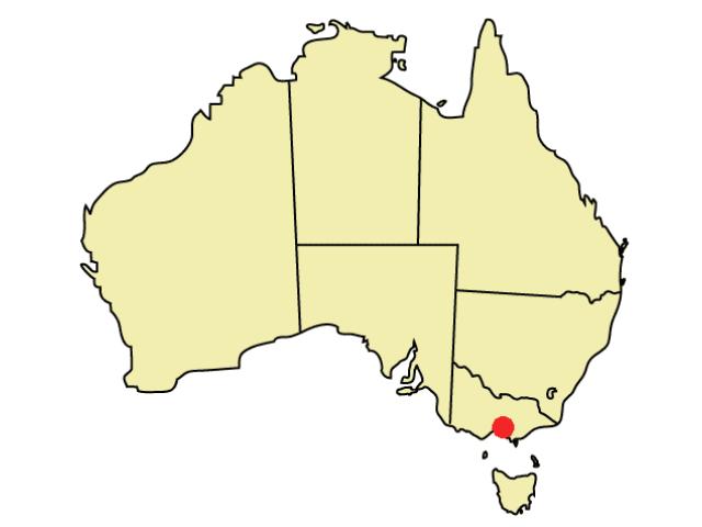 Melbourne locator map