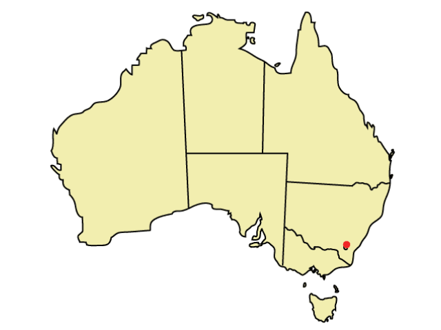 Canberra locator map