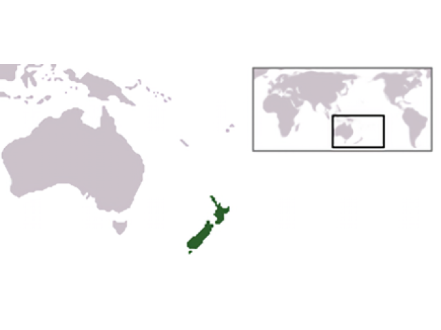 New Zealand locator map