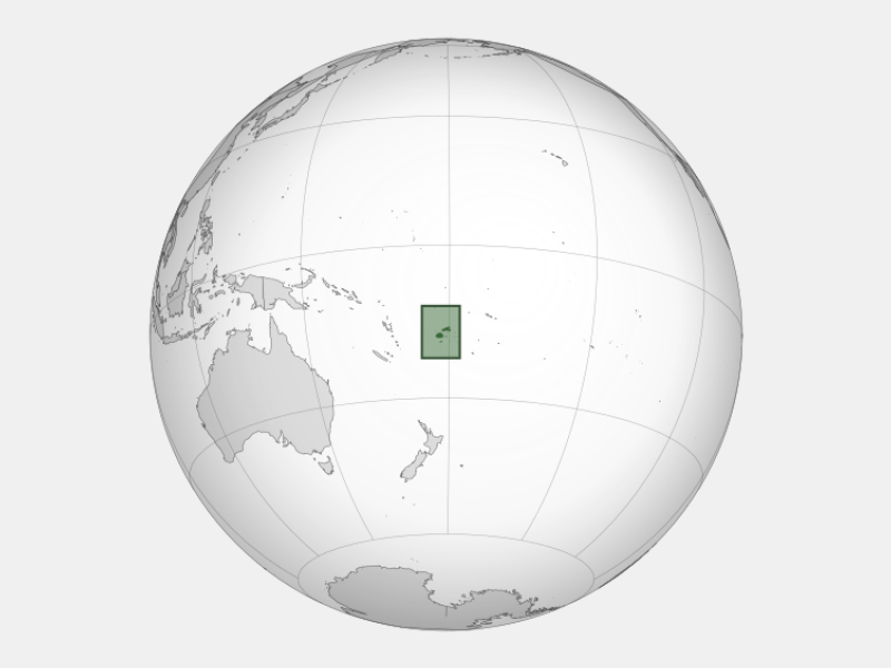 Republic of Fiji locator map