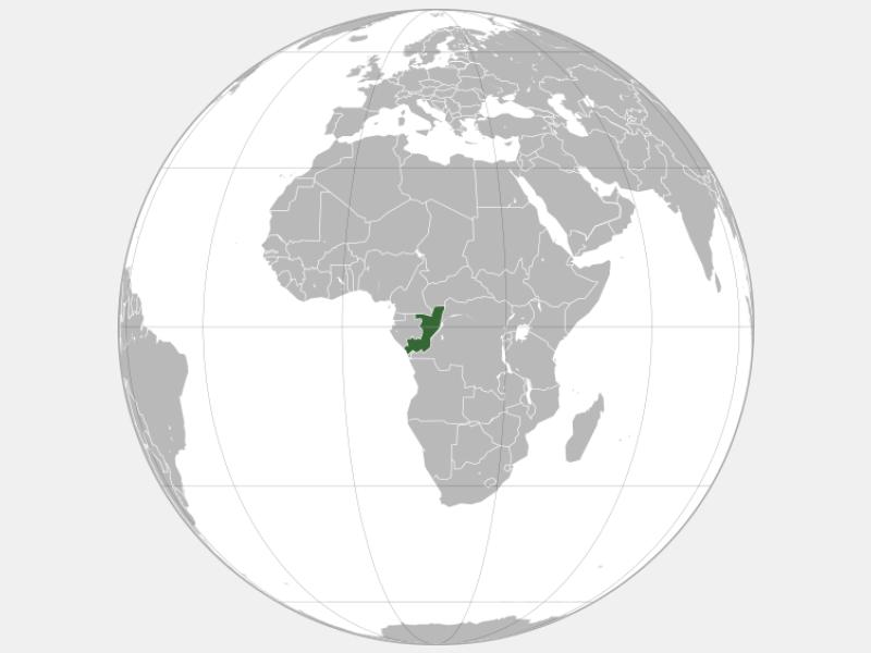 Republic of the Congo locator map