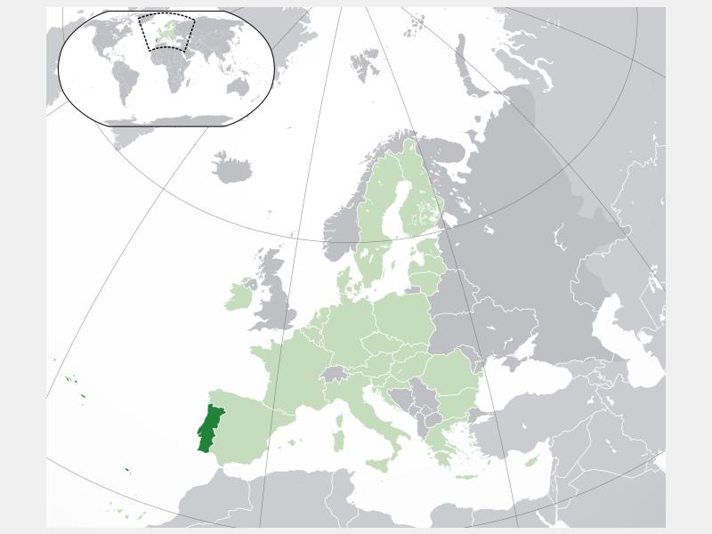 Portuguese Republic locator map