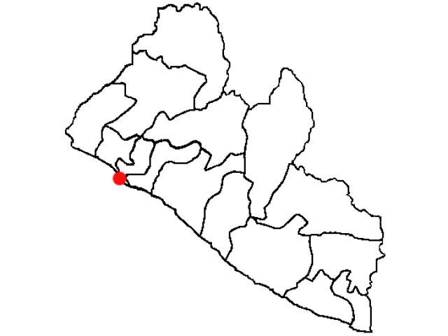 Monrovia locator map