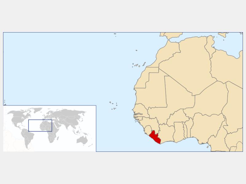 Republic of Liberia locator map