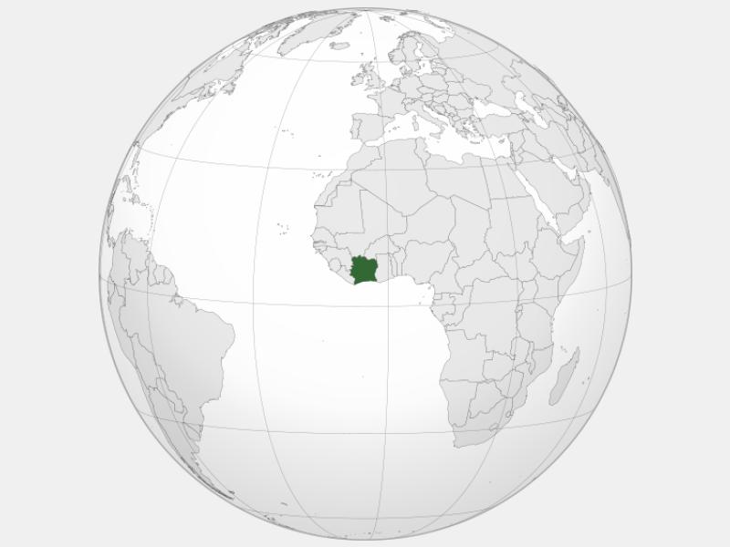 Republic of Côte d'Ivoire locator map