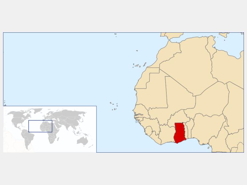 Republic of Ghana locator map