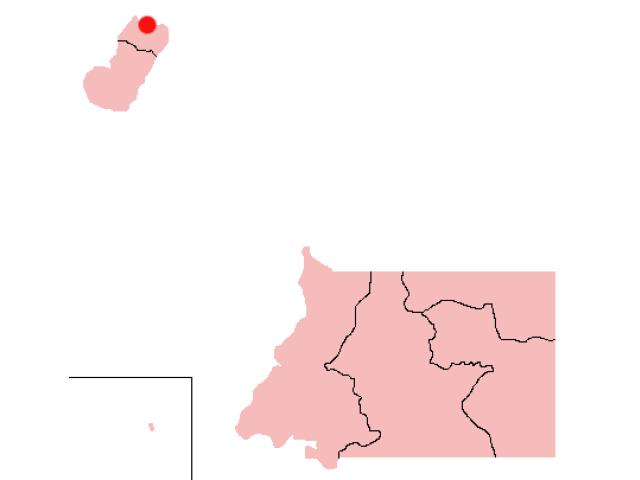 Malabo locator map