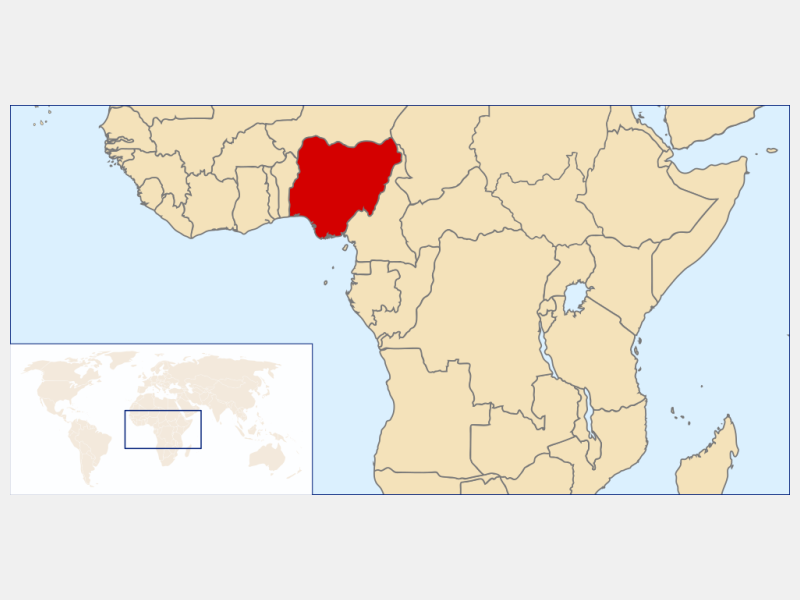 Federal Republic of Nigeria locator map