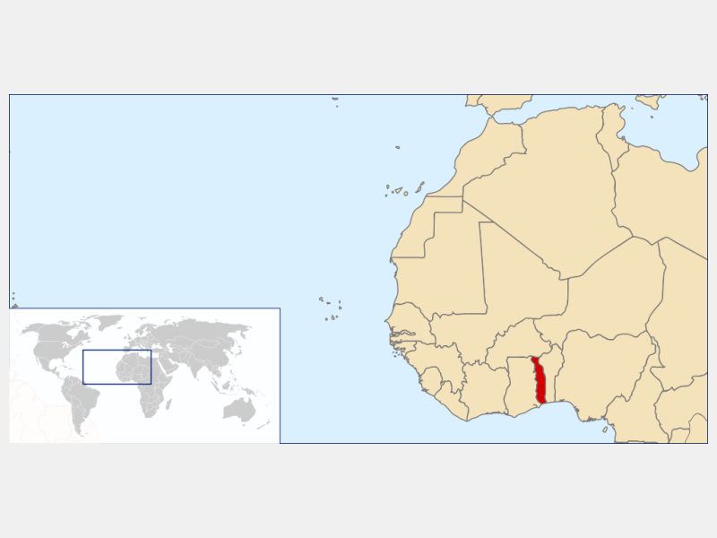 Togolese Republic locator map