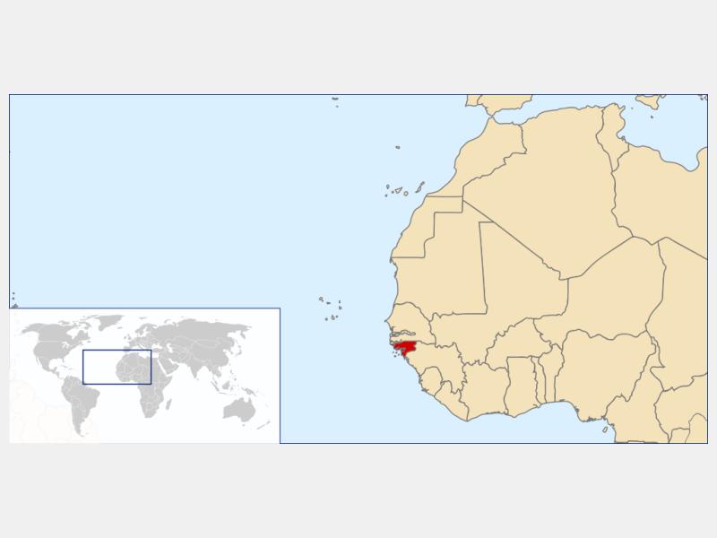Republic of Guinea-Bissau locator map
