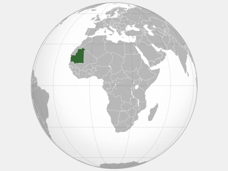 Islamic Republic of Mauritania locator map