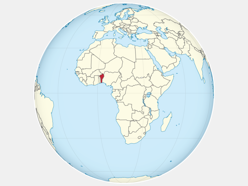 Republic of Benin locator map