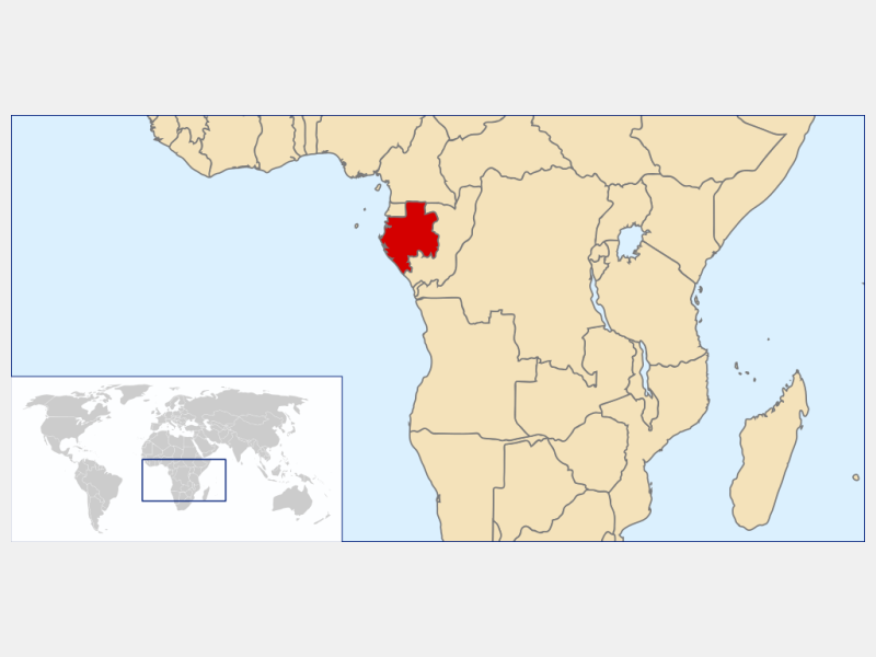 Gabonese Republic locator map
