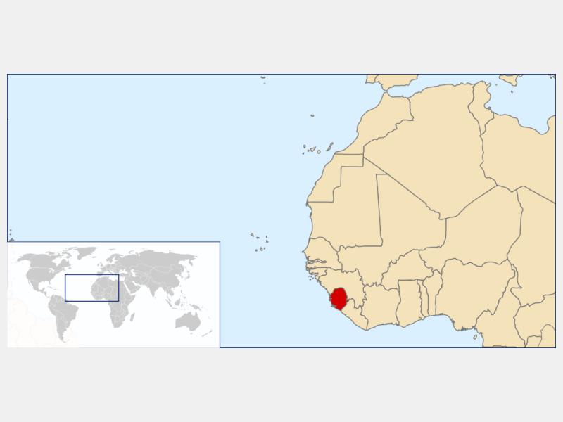 Republic of Sierra Leone locator map