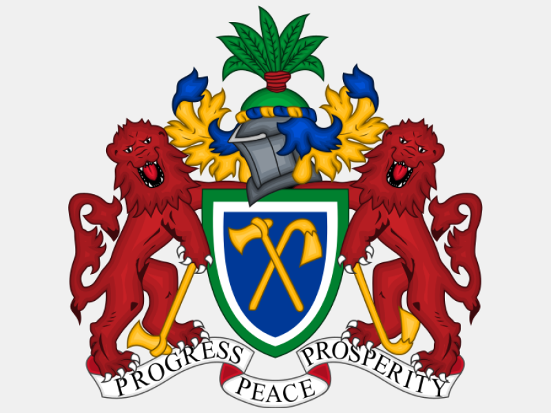 Coat of arms of The Gambia coat of arms image
