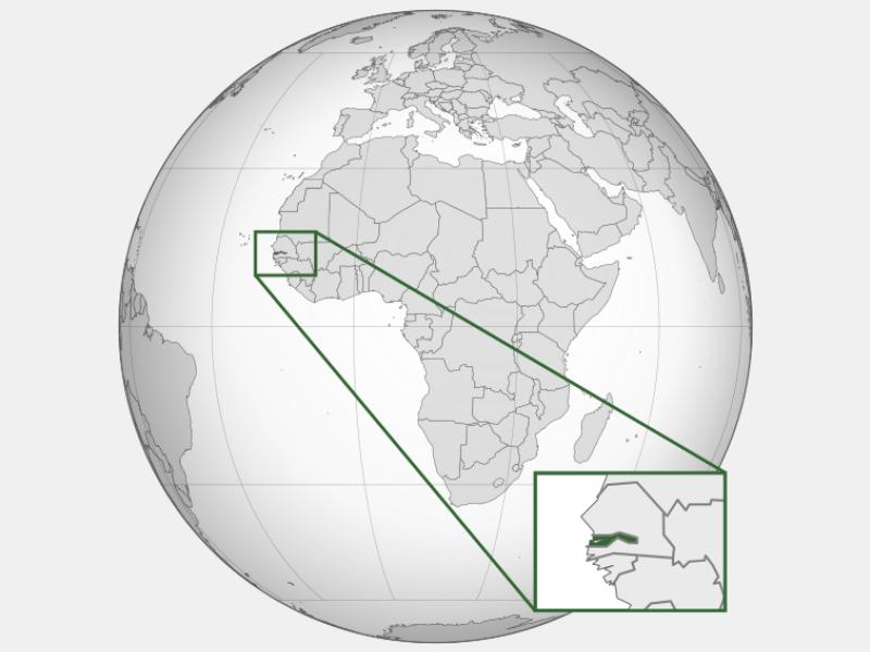 Gambia locator map