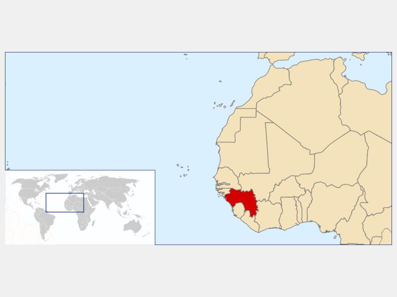 Republic of Guinea locator map
