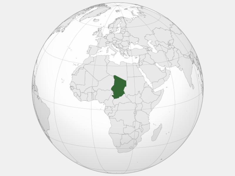 Republic of Chad locator map