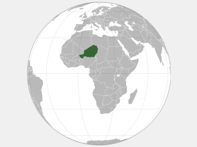 Republic of Niger locator map