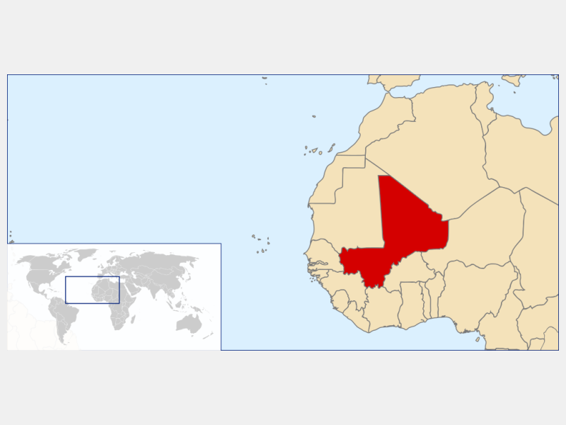 Republic of Mali locator map