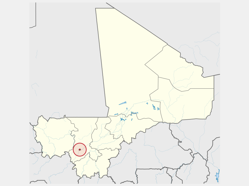 Bamako locator map