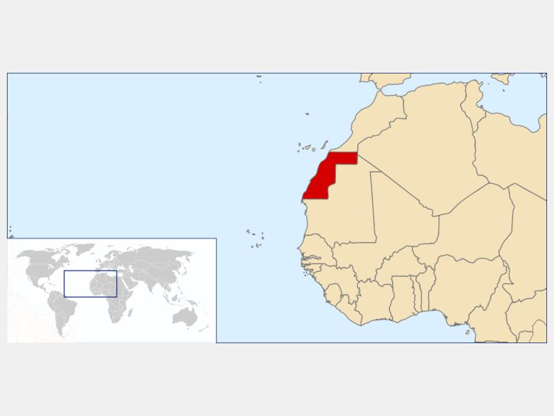 Western Sahara locator map