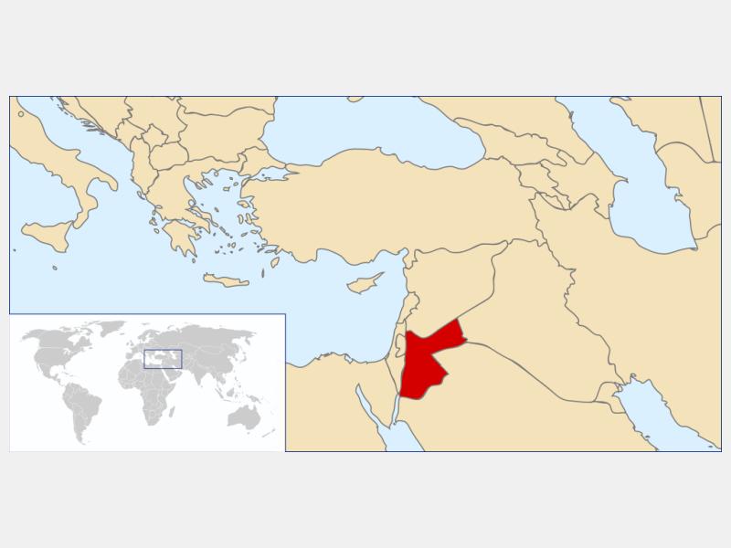 Hashemite Kingdom of Jordan locator map