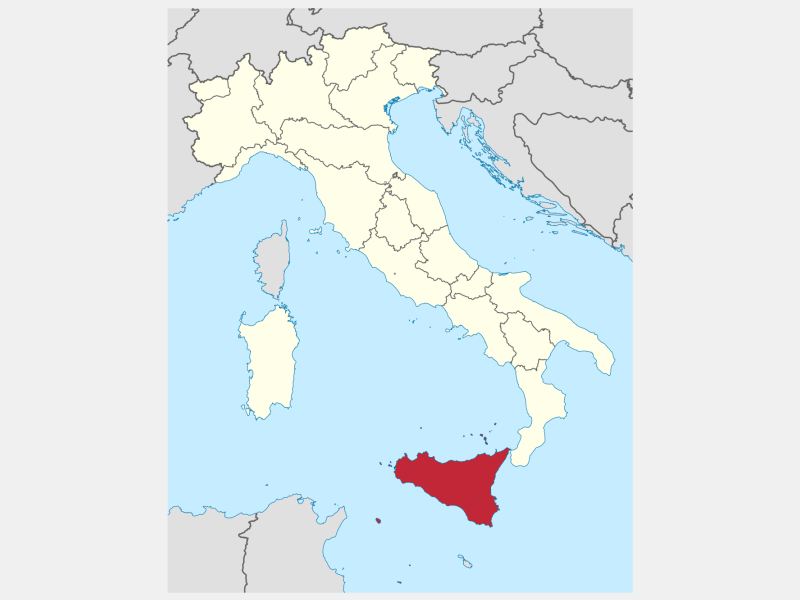 Sicily locator map