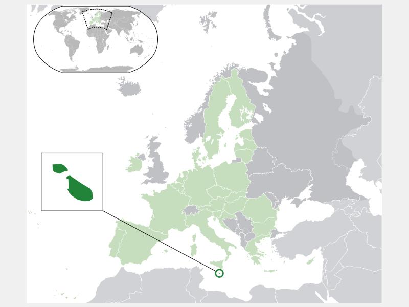 Republic of Malta locator map