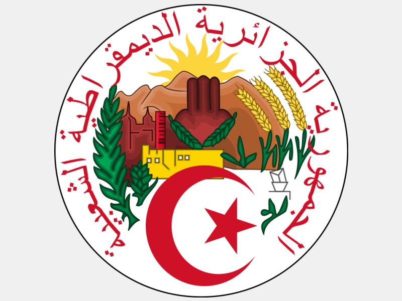Emblem of Algeria coat of arms image