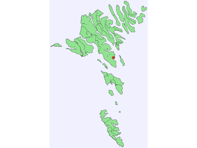 Tórshavn locator map