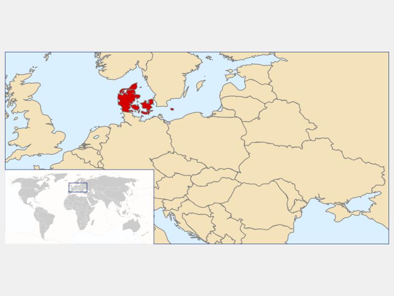 Kingdom of Denmark locator map