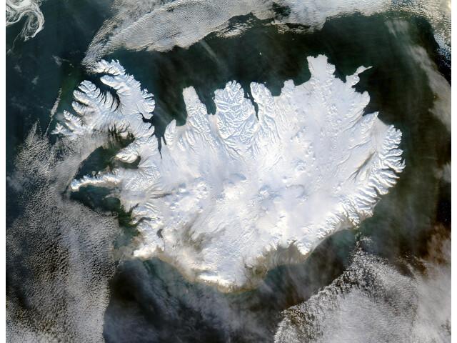 Iceland satellite image