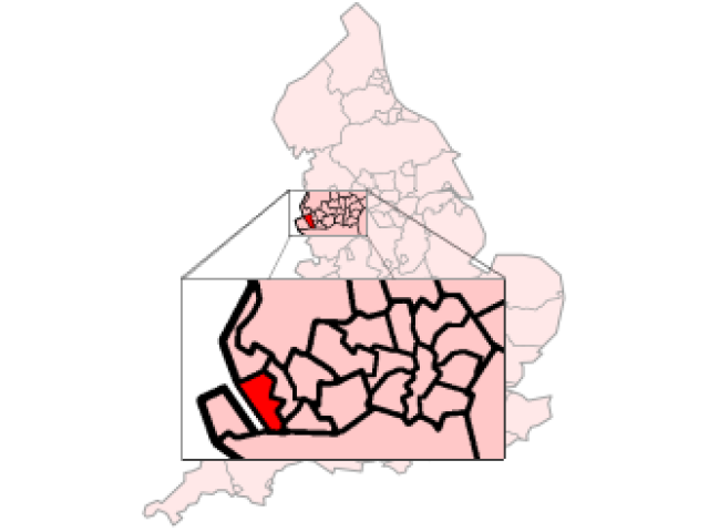 Liverpool locator map