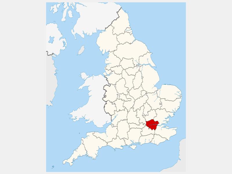 Greater London locator map