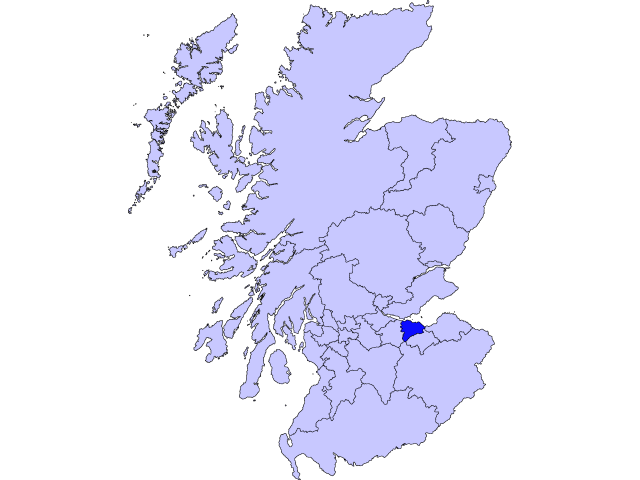 Edinburgh locator map