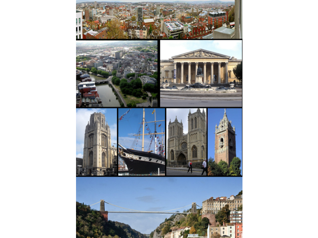 Bristol landmarks collage image