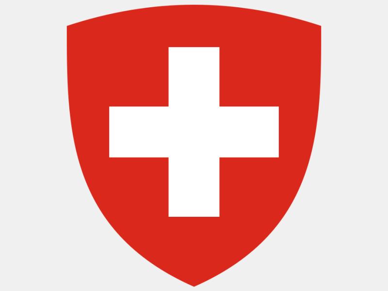 Coat of Arms of Switzerland 'Pantone' coat of arms image