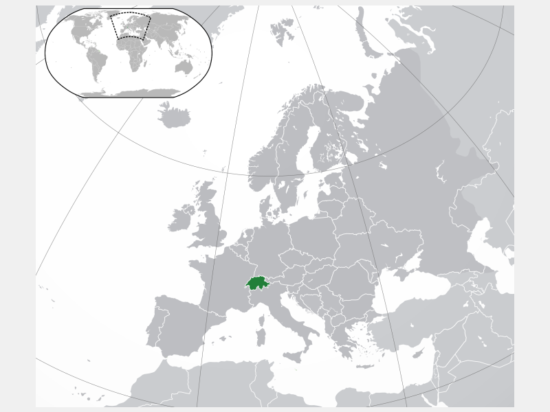 Swiss Confederation locator map