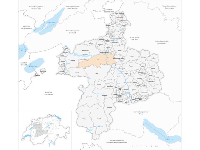 Bern locator map