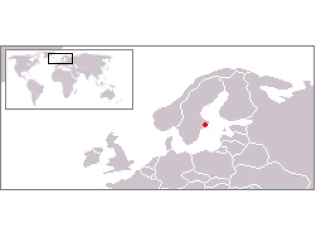 Stockholm locator map