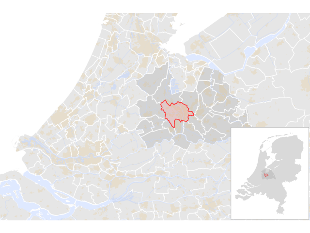 Utrecht locator map