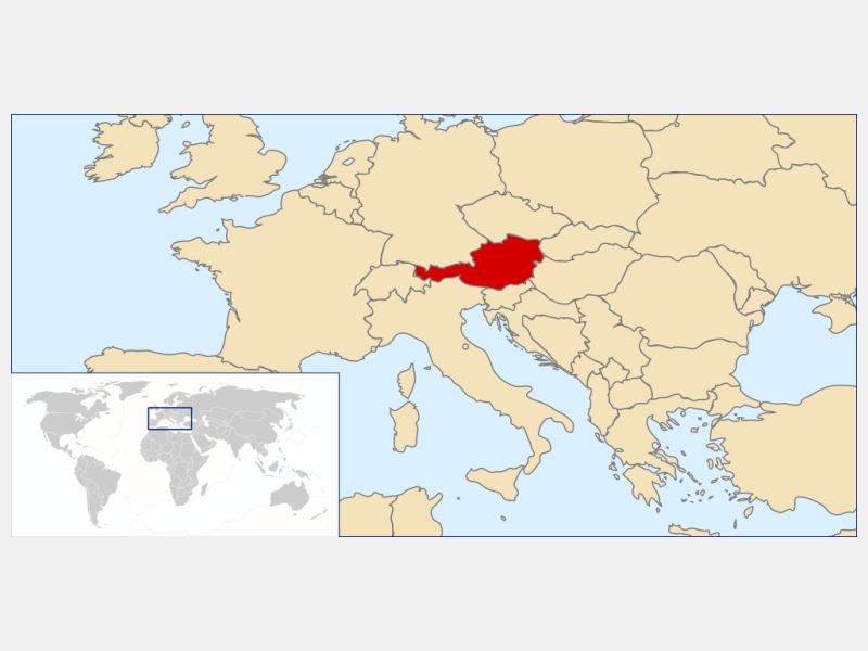 Republic of Austria locator map