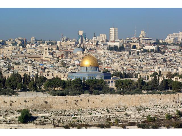Jerusalem Dome of the rock BW 14 image