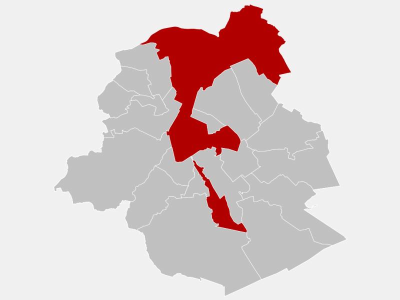 Brussels locator map