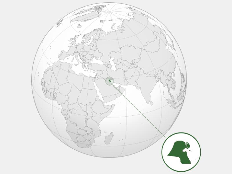 State of Kuwait locator map