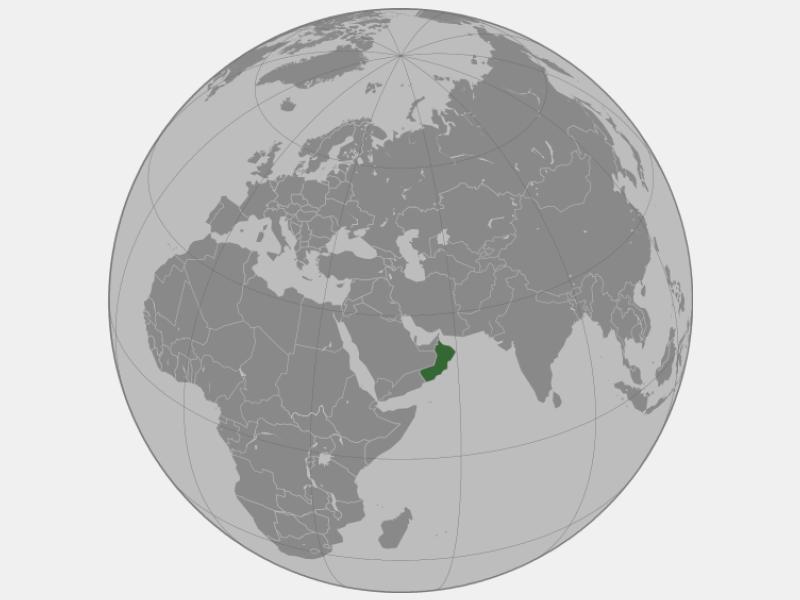 Sultanate of Oman locator map
