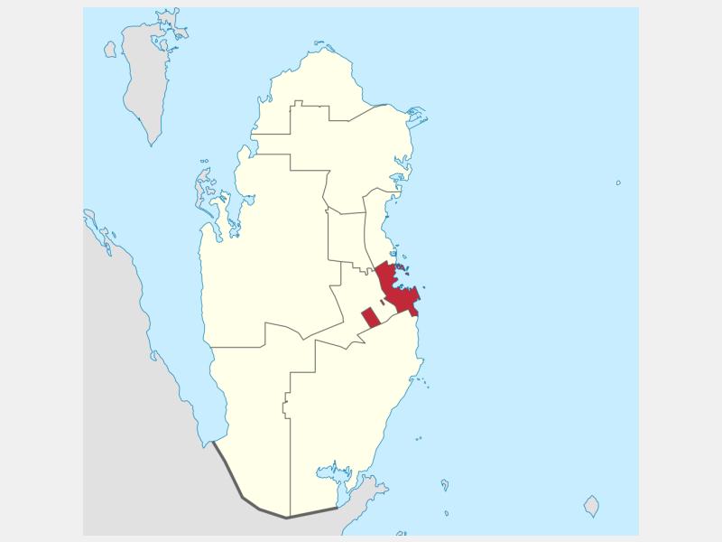 Doha locator map