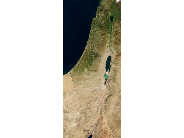 Satellite image of Israel in January 2003 image